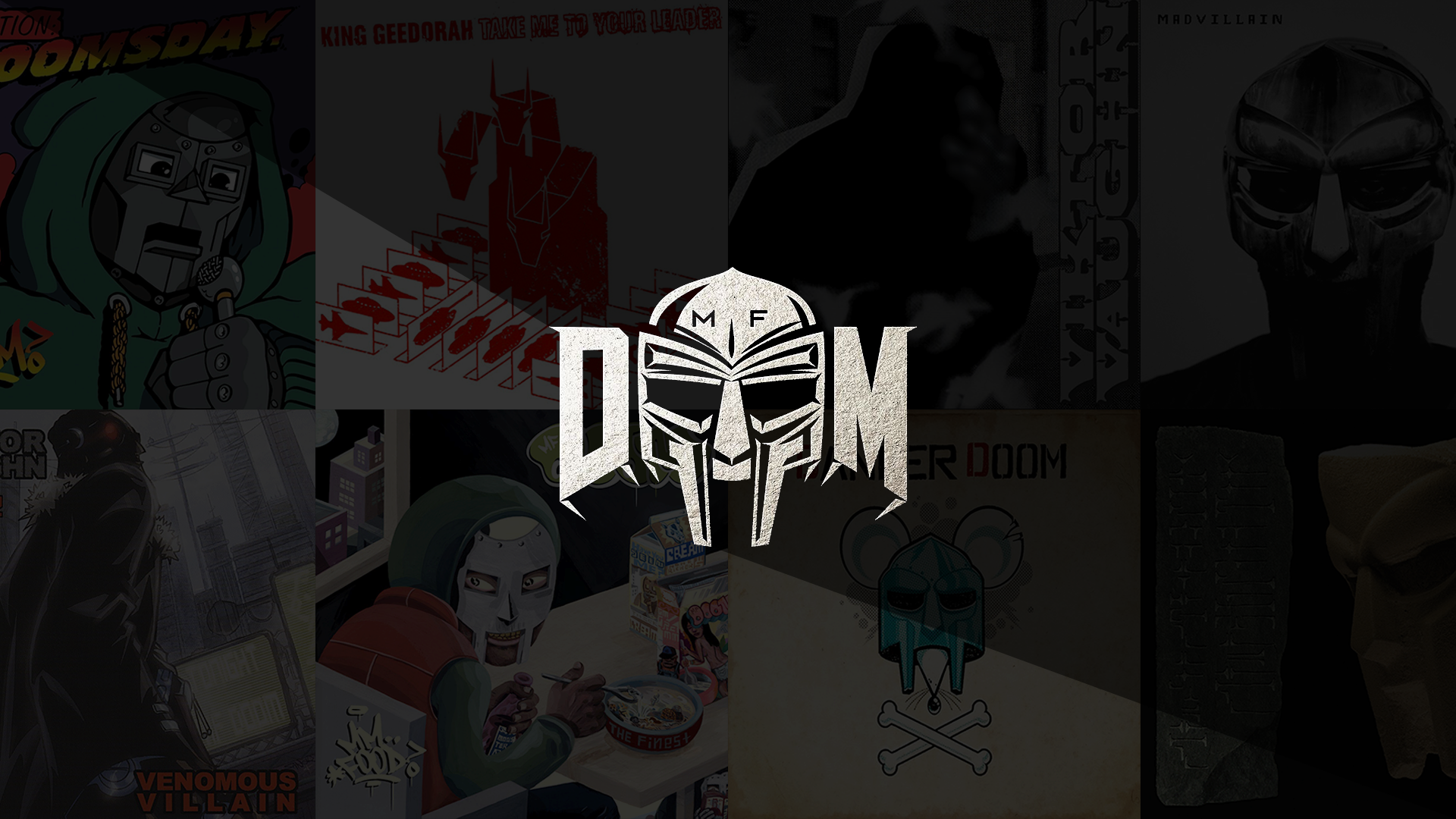 [1920x1080] Quick MF DOOM Wallpaper I made last night