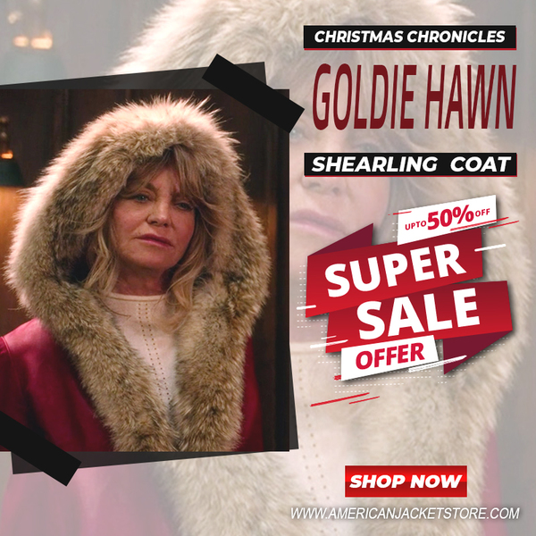 The Christmas Chronicles Goldie Hawn Shearling Coat