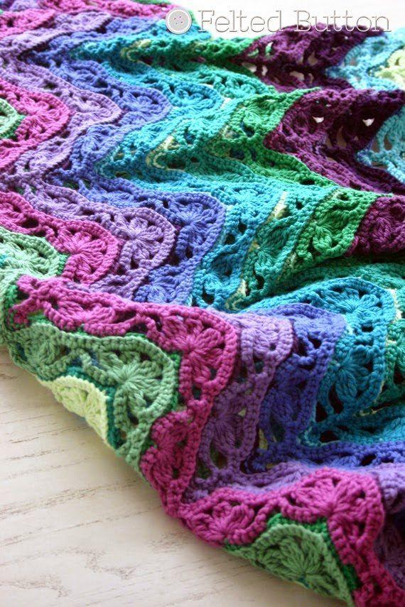 84 Modèles de Crochet gratuit belle | Patrones manta, Crochet ...