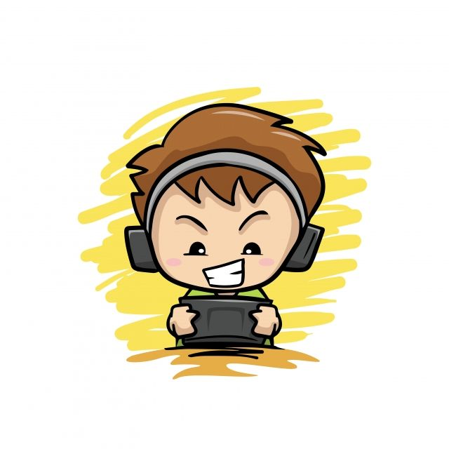 Gamer Mascot Geek Boy Esports Logo Avatar With Headphones And Glasses Cartoon Character Vozeli Com