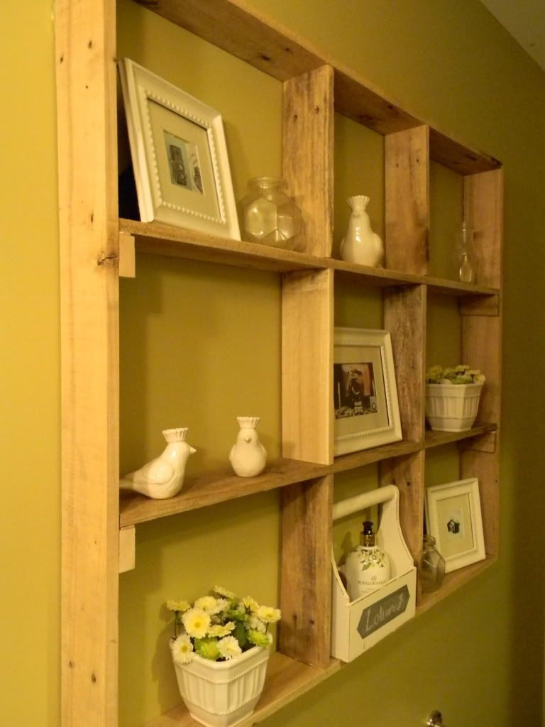 Pallet Wall Shelves | Simple Home Life: How I built my shelf made ...