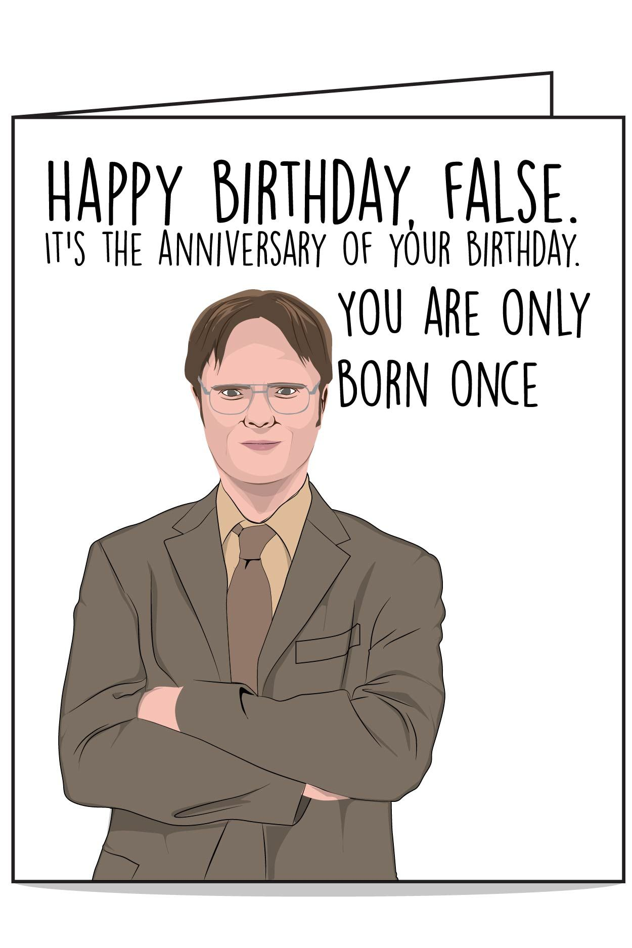Dwight The Office Birthday Card Office Birthday Funny Birthday Cards Office Jokes