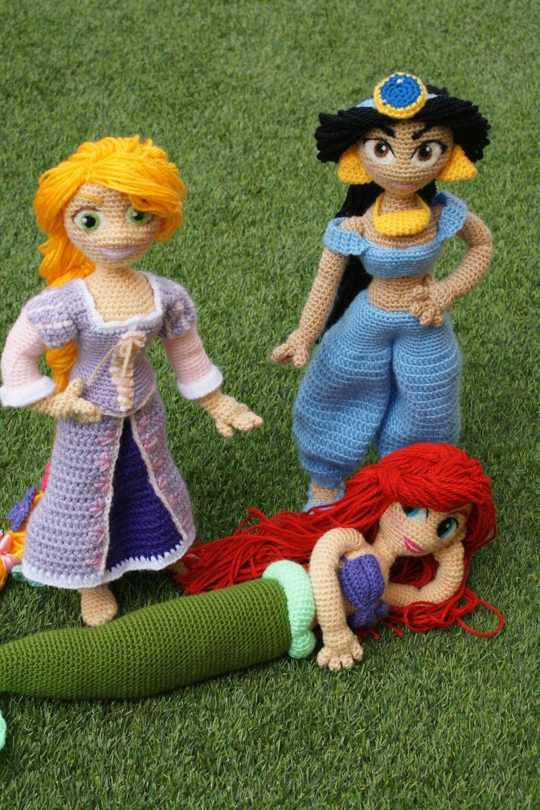 Receita Princesa Rapunzel Amigurumi | Rapunzel, Receitas amigurumi ... | 1600x1066