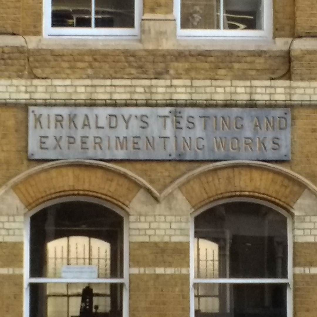 I have yet to visit and see Kirkaldy's Universal Testing machine. But I do like the sign. #testing #experimenting