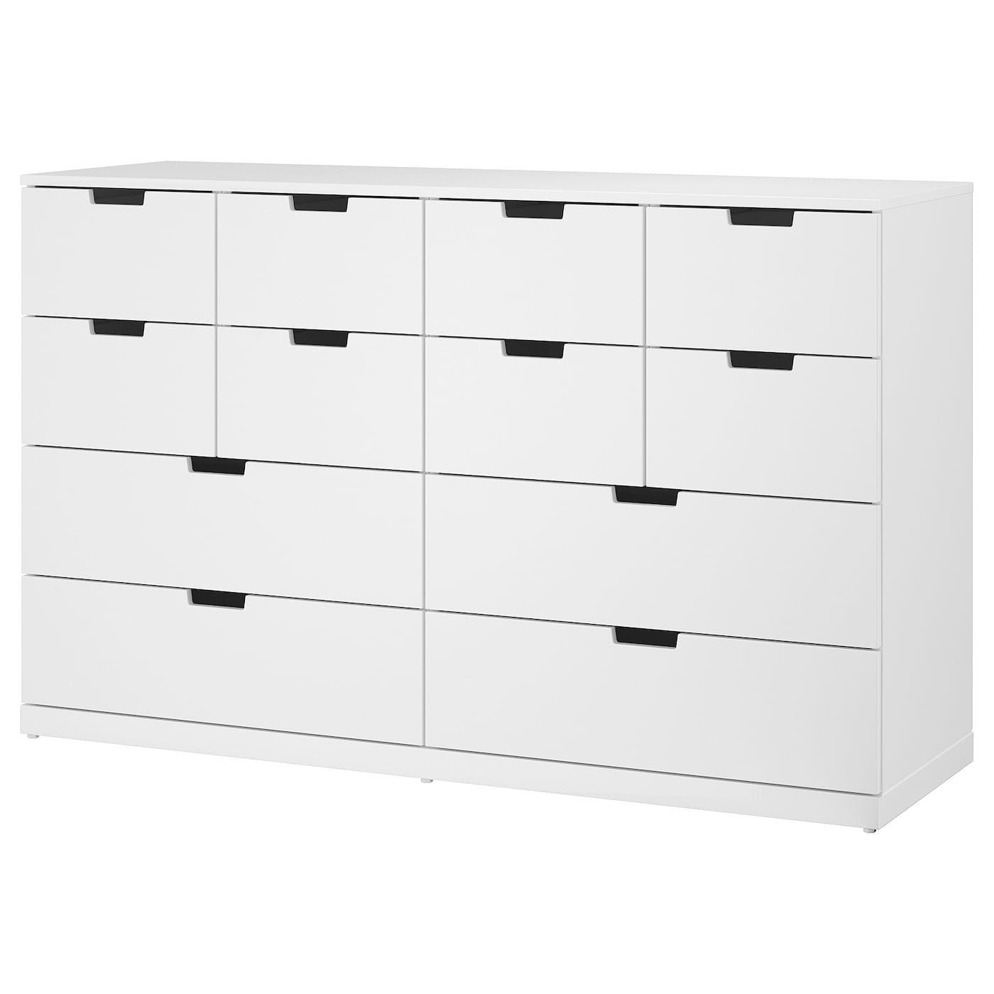 Nordli Ladekast Ikea.Nordli Ladekast Met 12 Lades Wit Apartment Chest Of Drawers