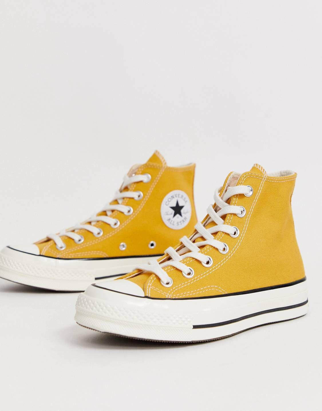 converse montante jaune enfant