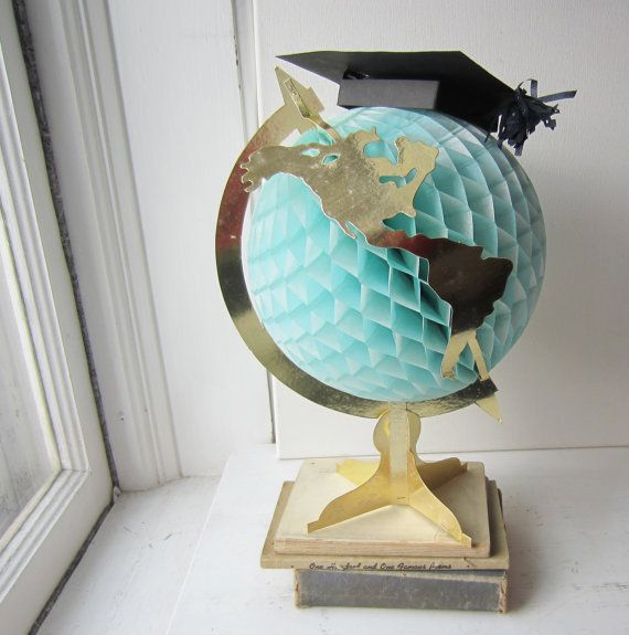handmade globes vintage world globe graduation centerpiece nursery decor 8240