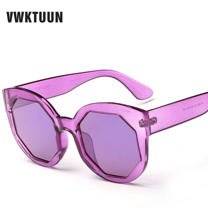 68b8ea2fccb8 VWKTUUN Candy Color Film Sunglass Men Women 2017 Vintage Sunglasses Women  Brand Designer Retro Sun Glasses lunette de soleil