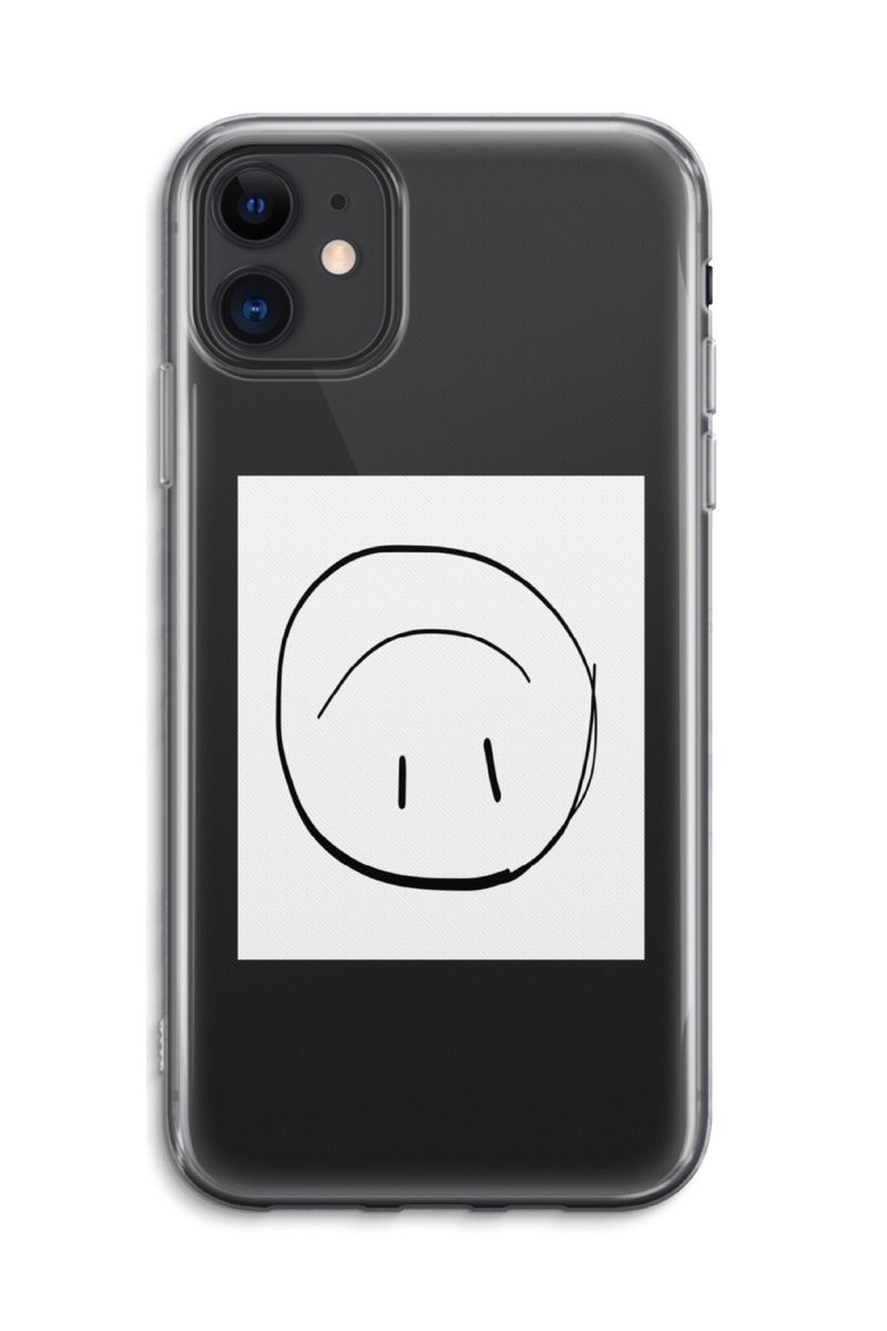 Smiley Transparent Iphone Case Smile Face White Square Etsy In 2020 Iphone Transparent Case Transparent Phone Case Unique Phone Case