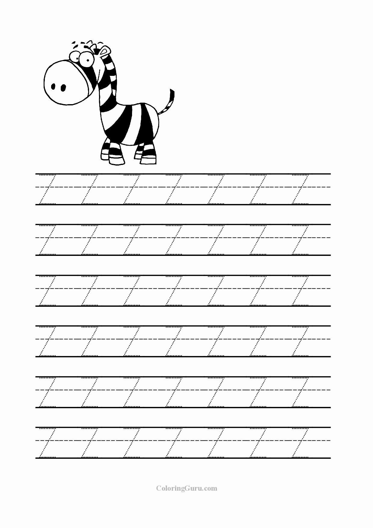 Letter Z Worksheet For Preschool In