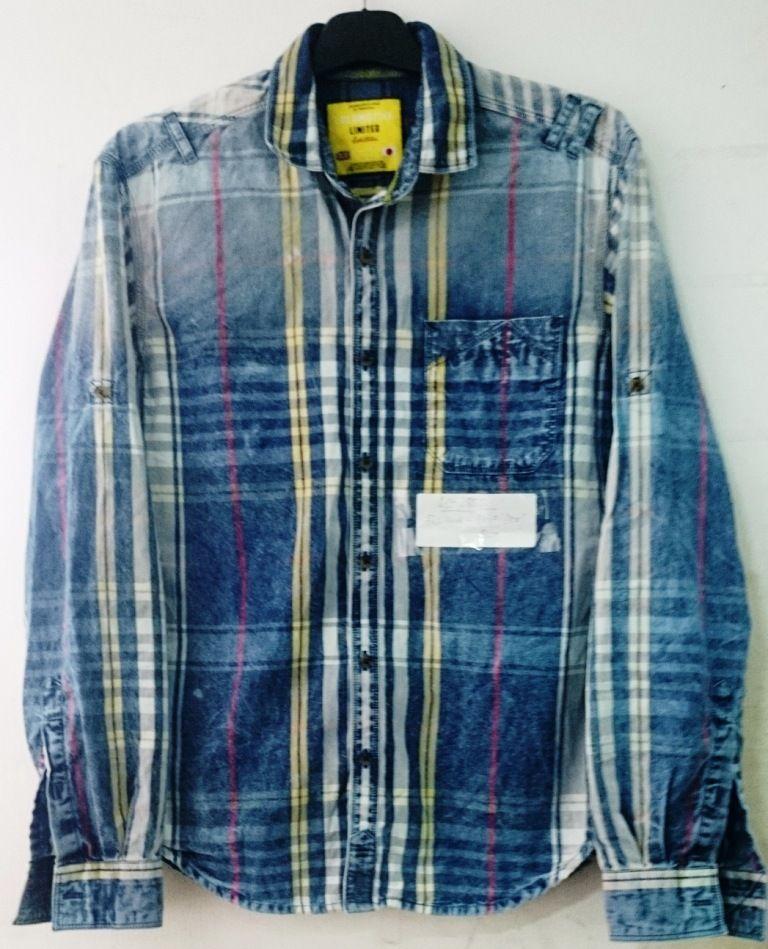 4db556e8ba3ecc Vintage washed YD indigo checks | Locomotive shirts in 2019 | Shirts ...