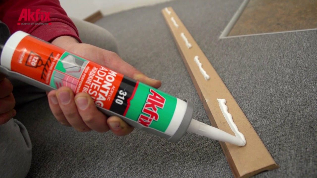 Install Baseboard Perfectly With Montage Adhesive No Nail Baseboards How To Install Baseboards Adhesive