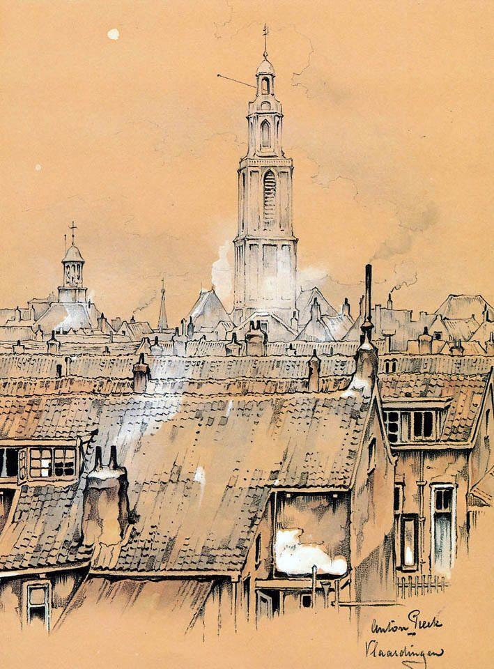Anton pieck anton pieck art sketches art for Interni abitazioni