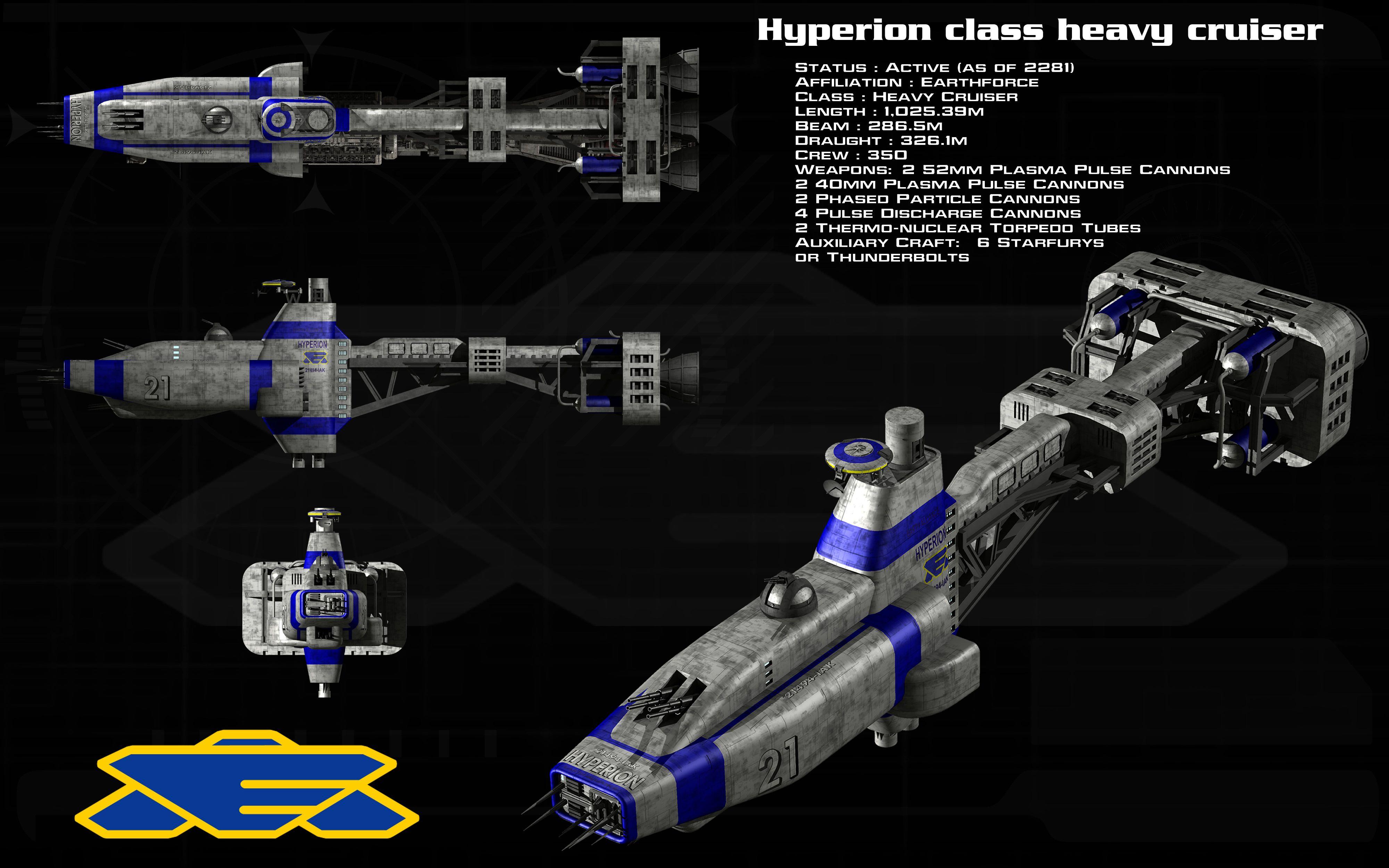 Wars Earthforce Hyperion Cruiser D Babylon 5