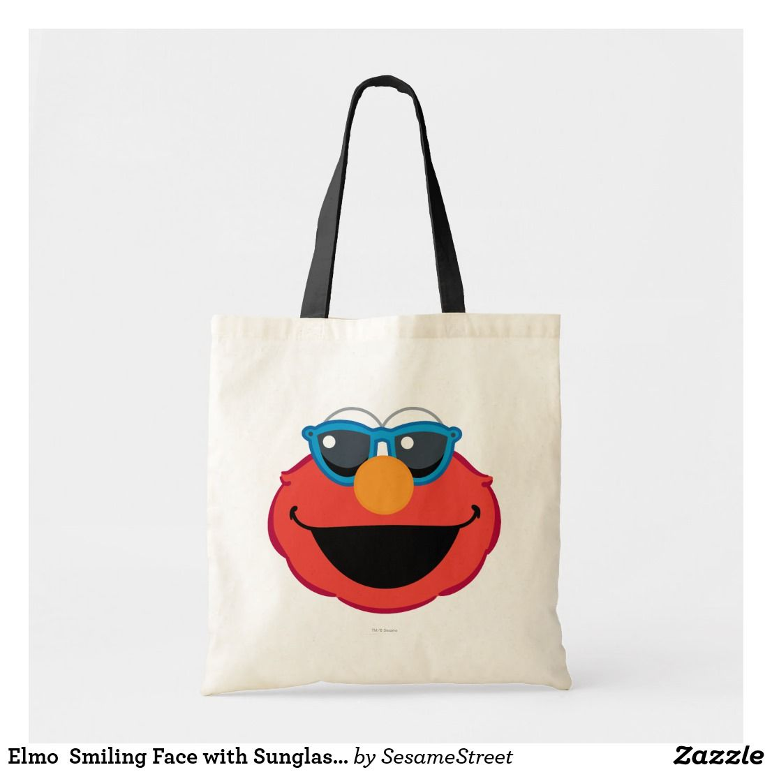 Elmo Smiling Face With Sungl Tote Bag Zazzle
