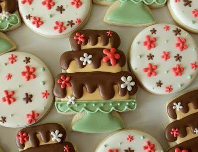 Wedding Cake Cookie Designs