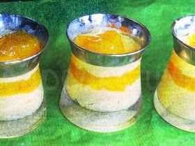 Cupcakeluv: Mango-Safran creme / Mango-Saffron custard