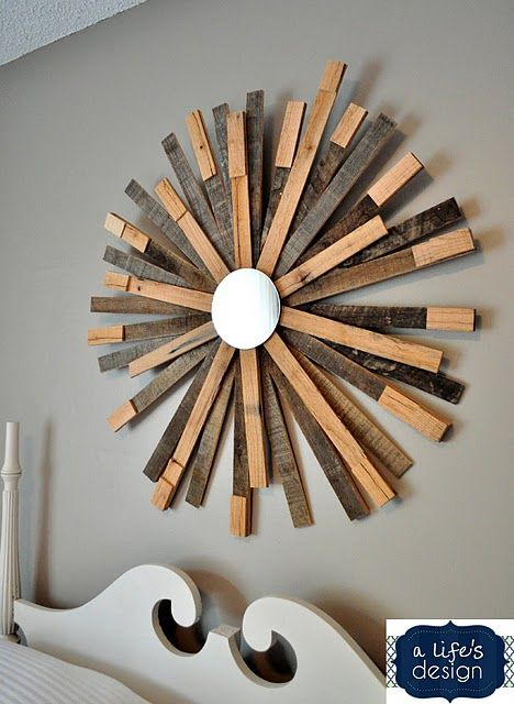 Diy Wooden Sunburst Wall Art Make A Large Square For The