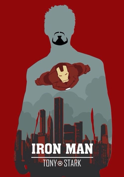 IRON MAN, Tony STARK, Wall Art Print Movie Poster ...