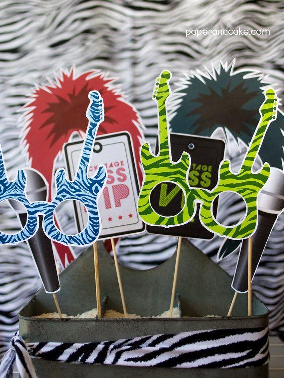 Felt Punk Rocker Hair Prop 80s Party 80s Hair Prop 80s Photo Booth Rocker Hair