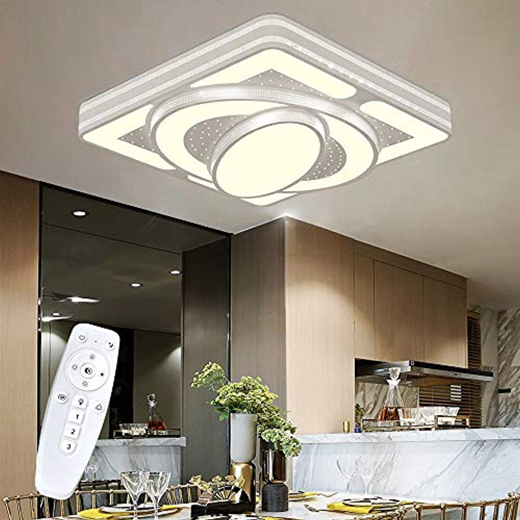 Wohnzimmerlampe Deckenleuchte Led Dimmbar Mit Fernbedienungen 64w 5760lm Design Deckenlampe Fur Wohnzimmer Schlaf In 2020 Wohnzimmerlampe Led Dimmbar Led Deckenleuchte