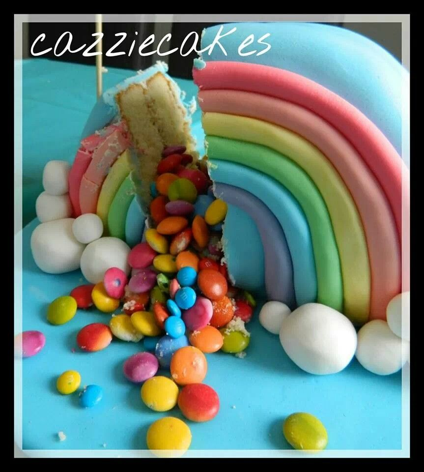 Cakes rainbow smarties yummy awesome fun with images