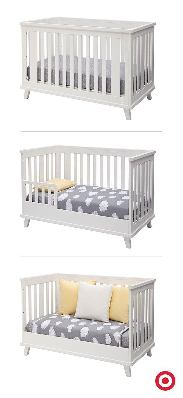 The Versatile 3 In 1 Ava Crib From Delta Children Is Three Pieces