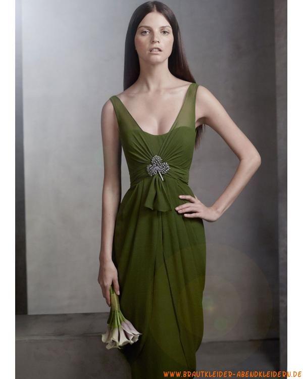 2012 Sexy grünes Cocktailkleid aus Chiffon | 2012 Luxuriöse ...