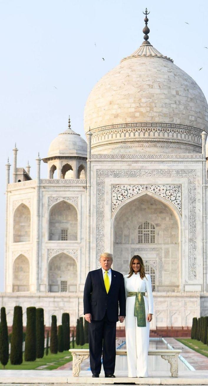 Flotus Melania Trump At The Taj Mahal In Agra India On February 24 2020 In 2020 First Lady Melania Trump Melania Trump I Love America