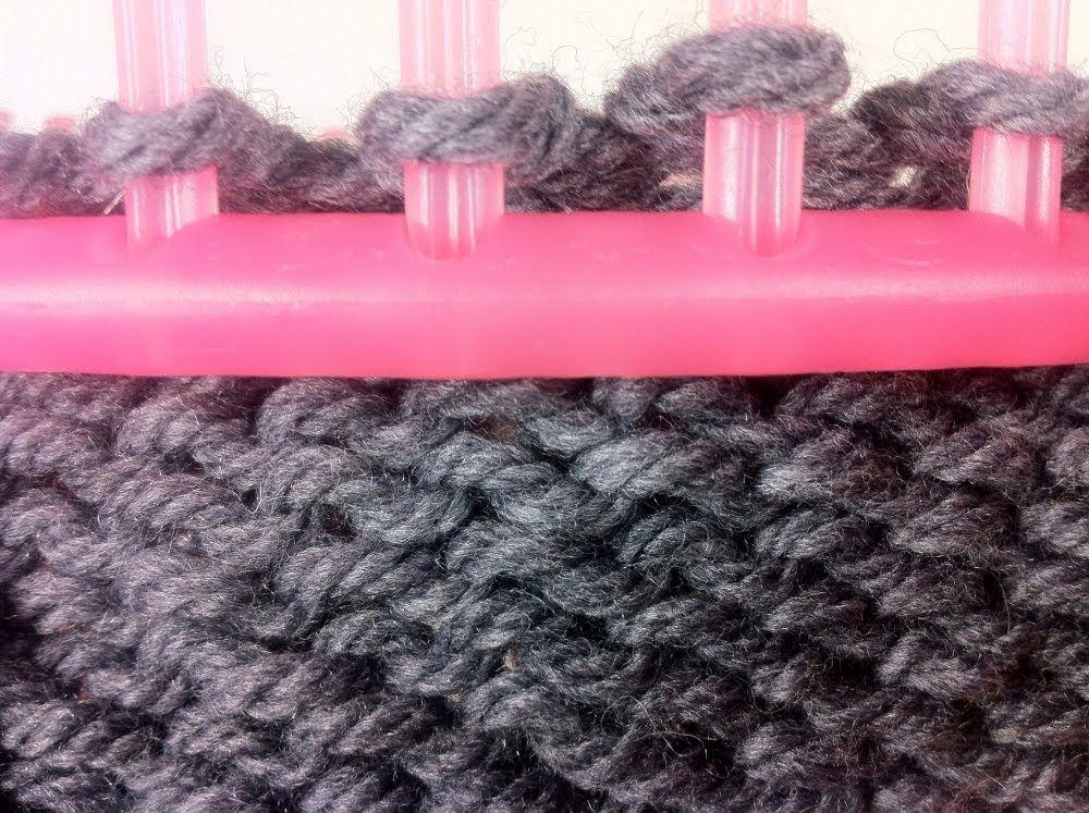 Cómo tejer con telar circular: PUNTO REVÉS | Telar de punto ...