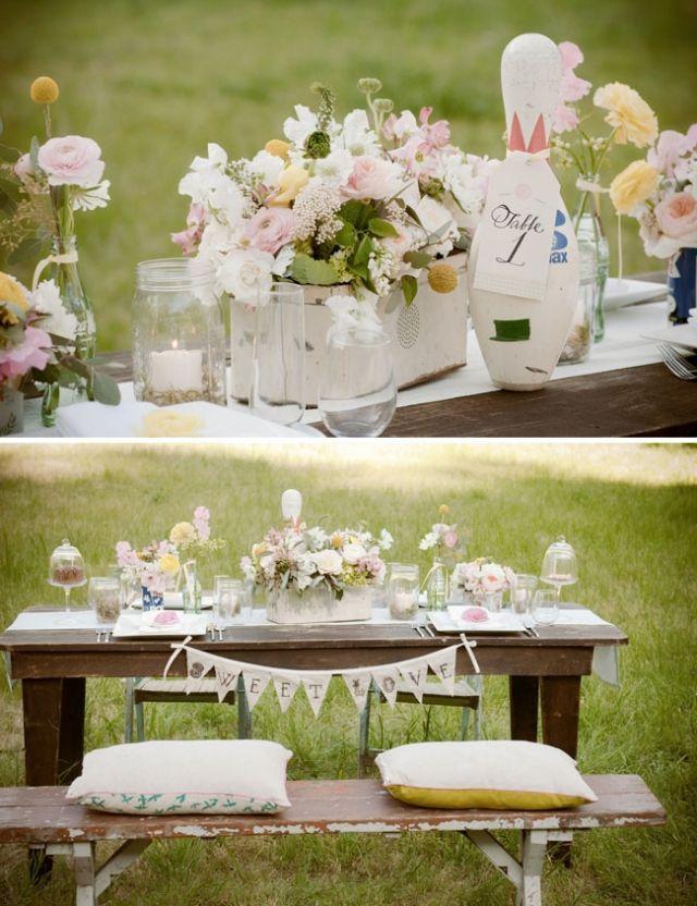 Vintage Deko Hochzeit Tischdeko Garten Ideen Blumen Hochzeitsideen