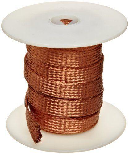 Tubular Bare Copper Braid, Bright, 3/8\