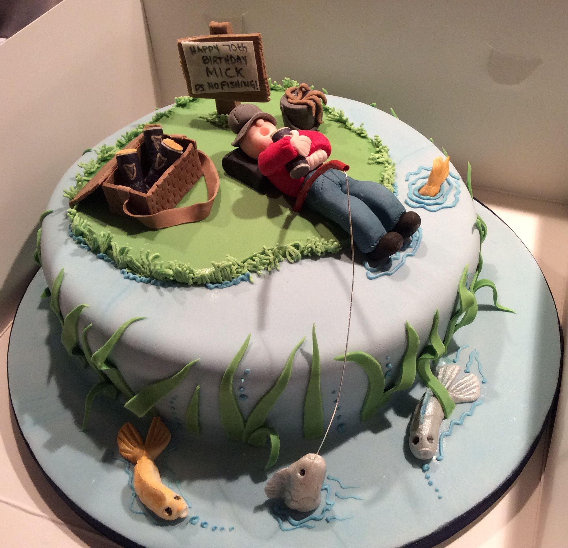 Stupendous Home Furniture Diy Fishing Decorations Cake Toppers Fisherman Funny Birthday Cards Online Eattedamsfinfo
