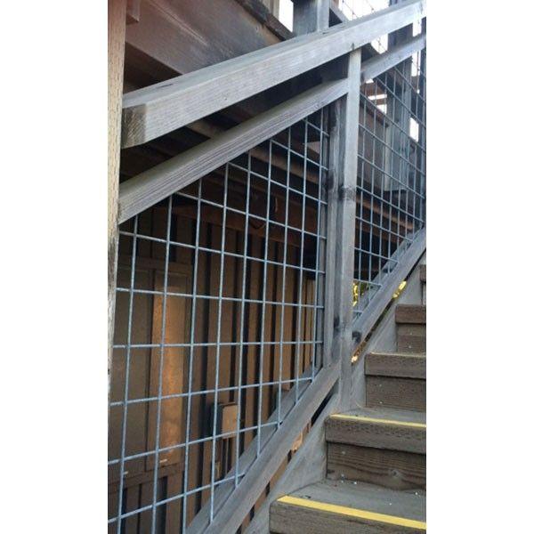 Welded Mesh Stair Fence Rail Panels By Wild Hog Railing