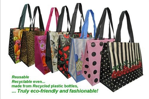 Shopping Tote Bag | Burma Recycled Plastic Project | Pinterest