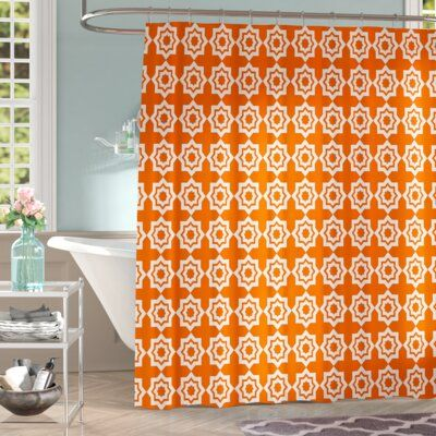 East Urban Home Brousseau Moroccan Mirage Single Shower Curtain