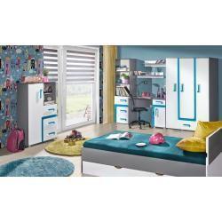 Reduzierte Mobel Jugendzimmer Kommode Oskar 07 Farbe Anthrazit Weiss Blau 84 X 128 X 40 Cm H X B Jugendzimmer Vintage Einrichtungen Einfaches Wohndekor