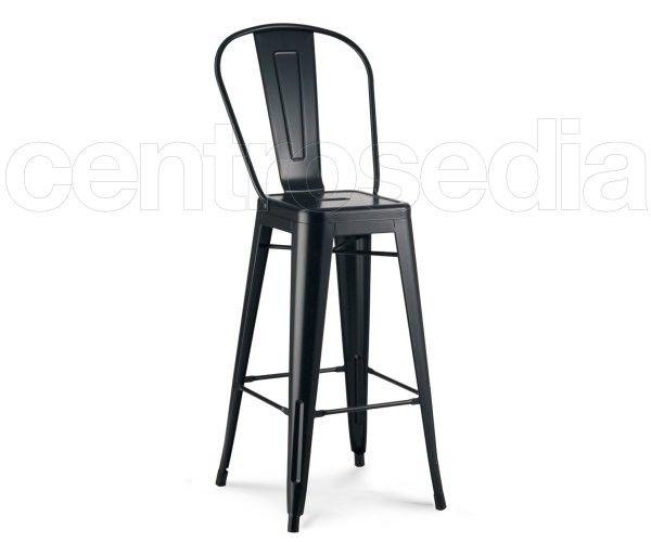 Polluce sgabello alto metallo cucina bar stools metal chairs e