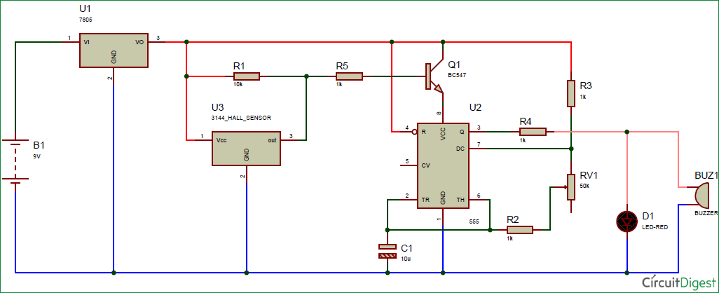 magnetic door alarm circuit diagram electronic circuit diagrams in rh pinterest com