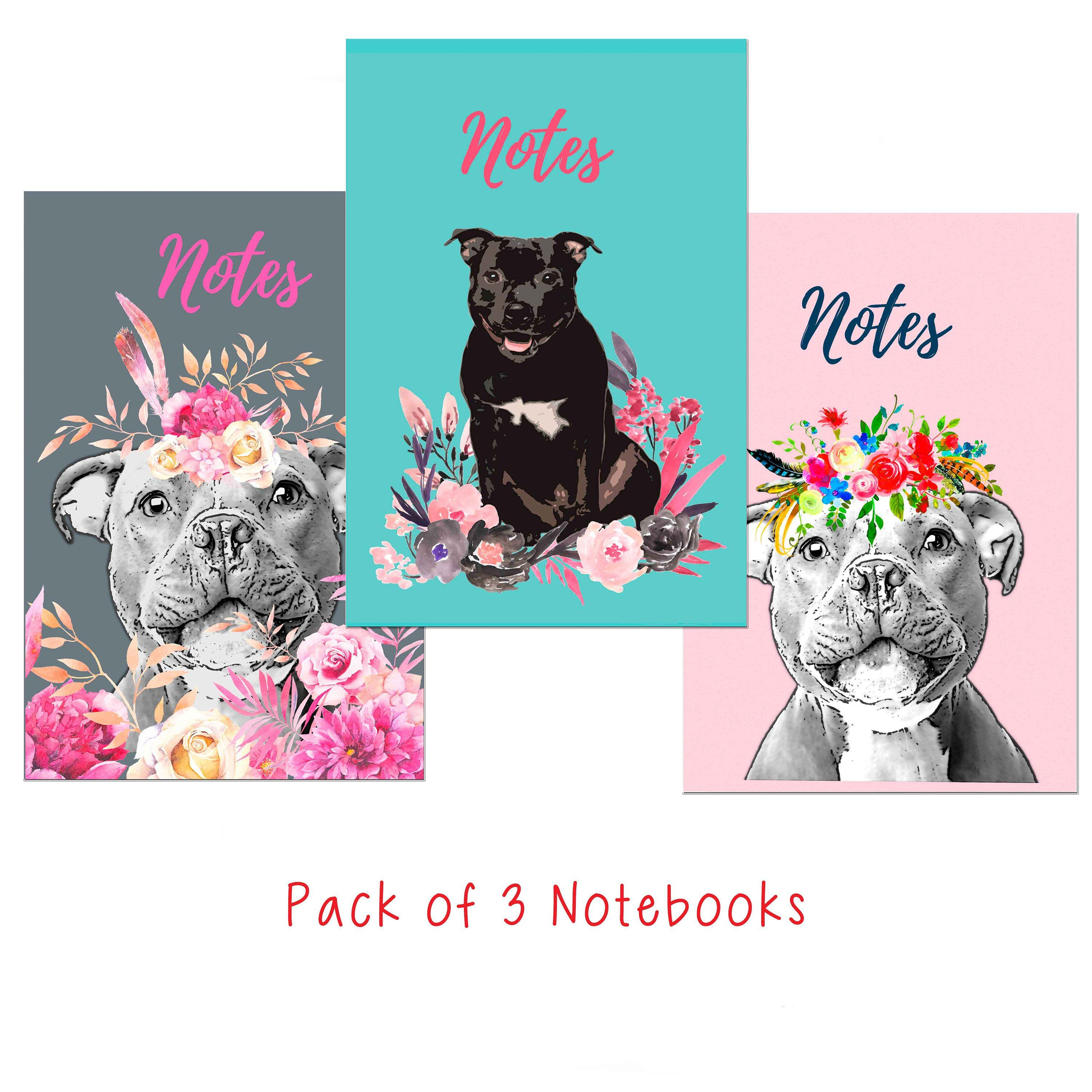 Staffordshire Bull Terrier A6 Notebooks Pack of 3