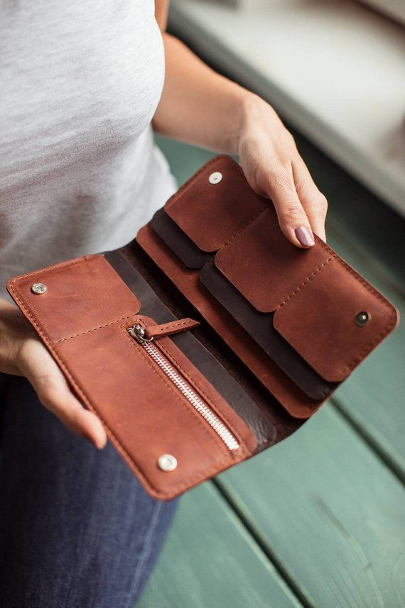 Leather wallet, long leather wallet, brown wallet, passport organizer, leather wallet man, leather cardholder, phone wallet, wallet woman #leatherwallets