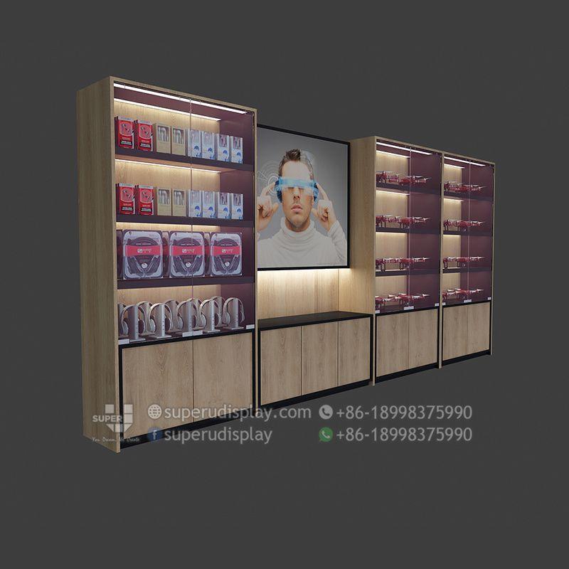Gabinete Exhibidor De Pared Para Accesorios De Celulares Diseno
