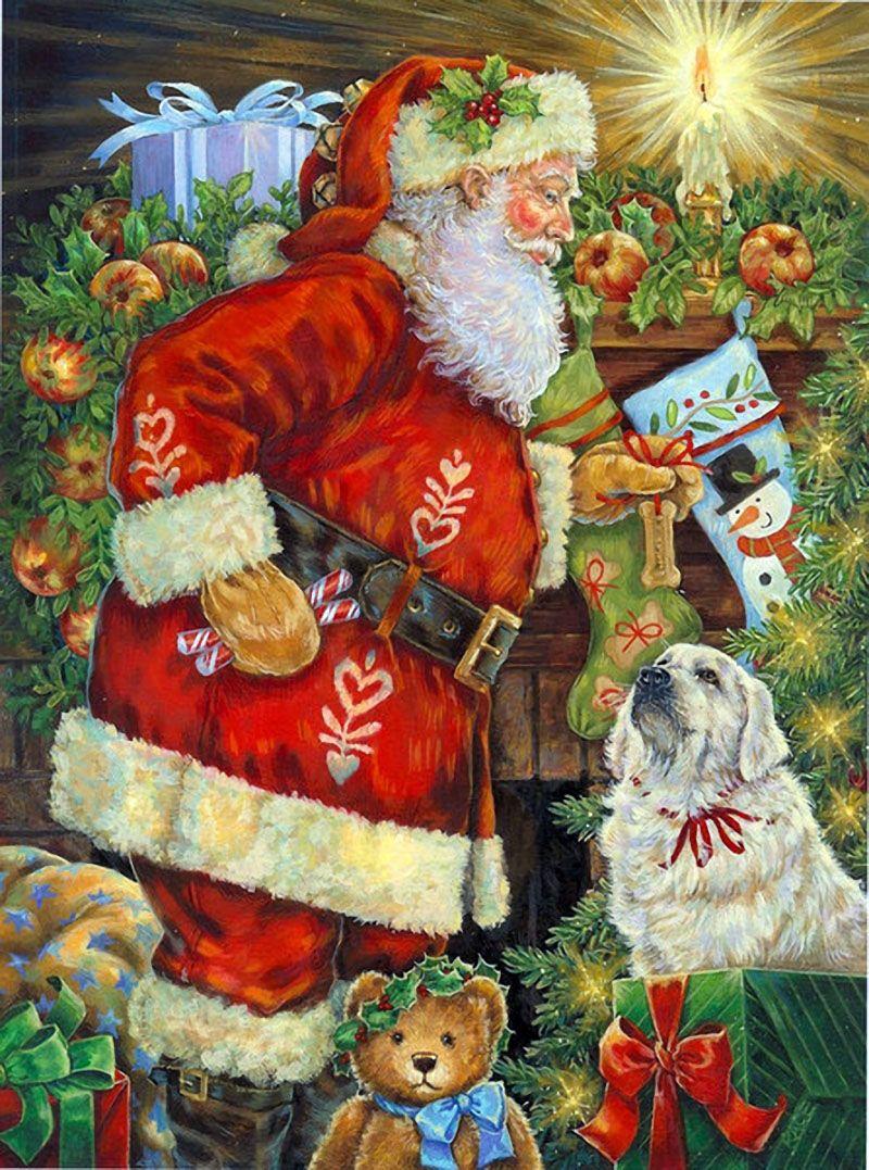 Поздравления, новогодняя открытка художники