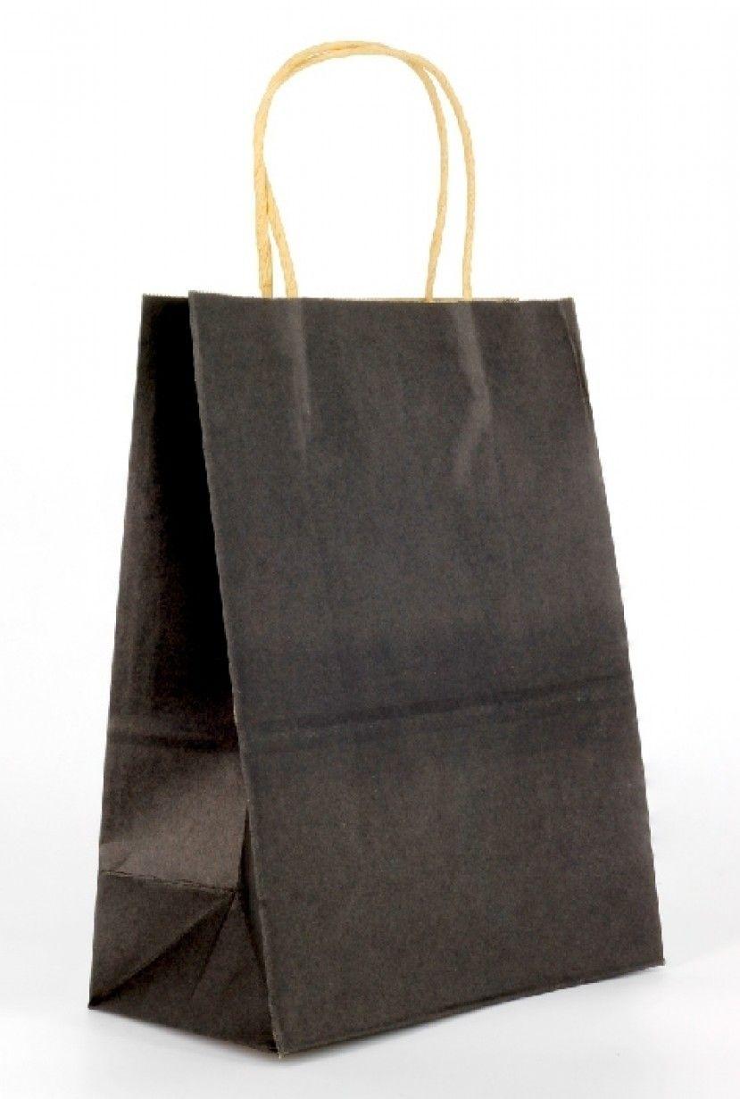 كيس ورقي أسود الطول 21 سم الارتفاع 27 سم العرض القاعده 11 سم متوفرة لدى موقع صفقات موقع متخصص بأدوات ومستلزمات التغليف التغليف Tote Bag Tote Bags
