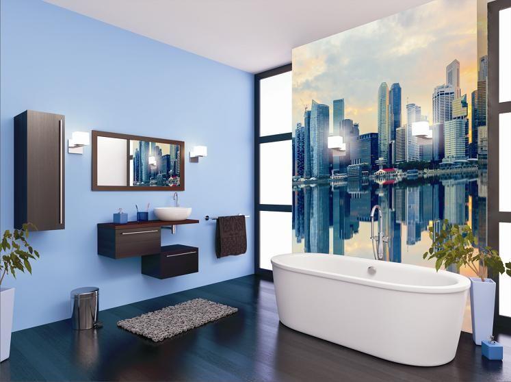 Inspiration Badezimmer ~ Badezimmer mural inspiration aranżacja wnętrz