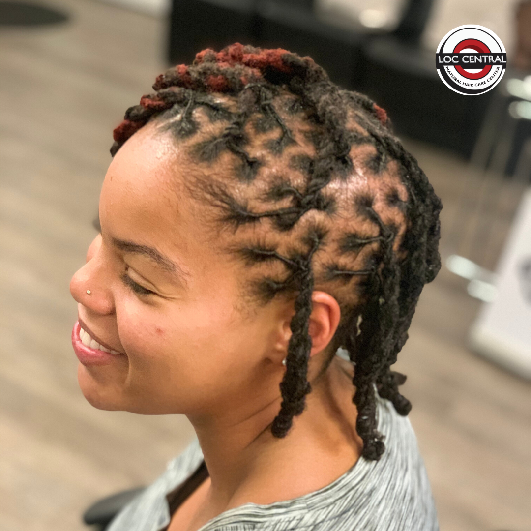 That Smile Looks Good On You Girl And So Does That Hair Call 301 272 0101 To Get Your Hair Loved On Loc Natural Hair Stylists Natural Hair Salons Loc Styles