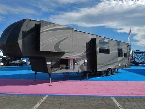 2016 New Dutchmen Voltage 3970 Toy Hauler in California CA.Recreational Vehicle, rv, 2016 Dutchmen Voltage 3970, The Voltage RV is the king of fifth wheel toy haulers. It is the unmatched luxury toy hauler combination, with spacious ceilings, plenty of sleeping room, a versatile garage area, and dozens of other high quality features you won t find in other toy haule