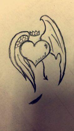 Herz mit Engelsflügel