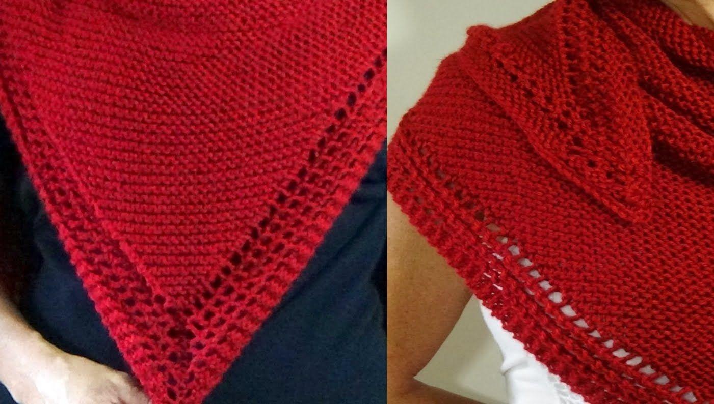 Cómo Tejer CHAL DE LUJO - Knitting a Shawl 2 Agujas (376 ...