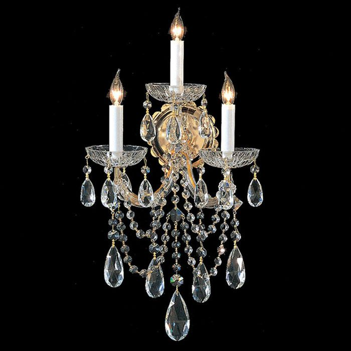 Leonore Crystal Wall Sconce My Sophisticated Home Wall